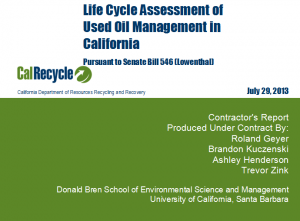 Cal Recycle UO LCA Cover