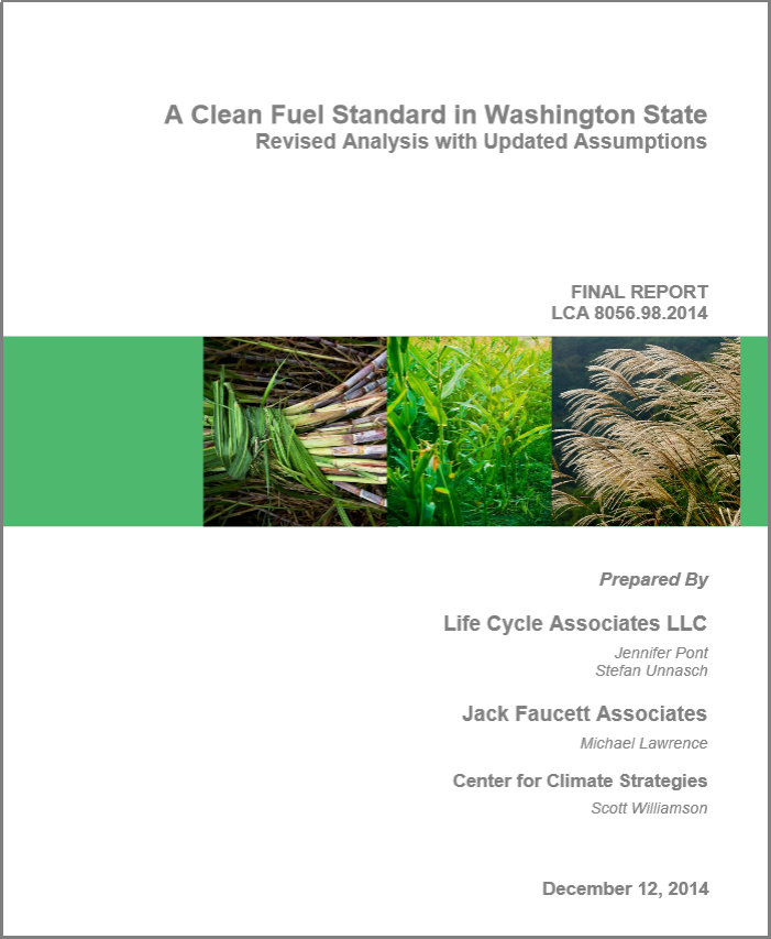 WA Clean Fuel Standard Report